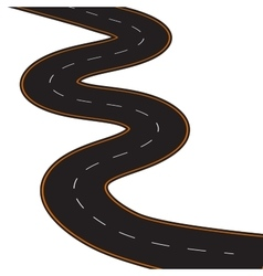 winding road vector image vector image