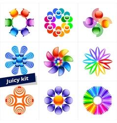 Set of design element business logo vector image