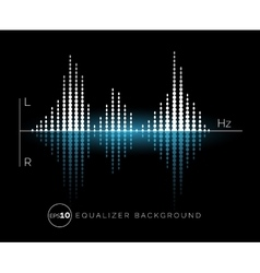 Equalizer digital sound design element vector