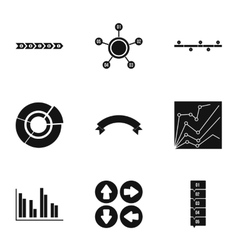 Analytics icons set simple style vector