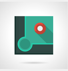 pool game flat color icon vector image