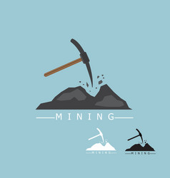 Mining logo concept vector