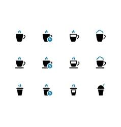 Coffee mug duotone icons on white background vector image
