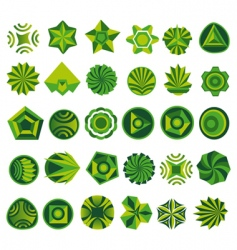 Set of green logo vector