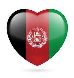 Heart icon of afghanistan vector