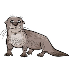 Otter animal cartoon vector
