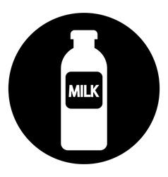 Milk bottle button vector