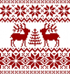 Christmas Norwegian pattern vector image