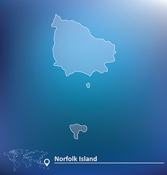 Map of norfolk island vector
