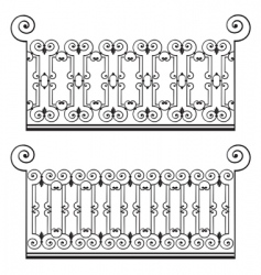 Wrought iron fence vector