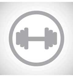 Grey barbell sign icon vector