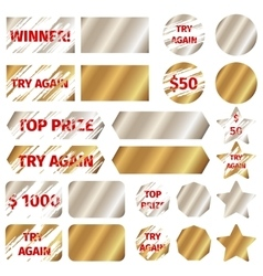 Scratch card elements vector
