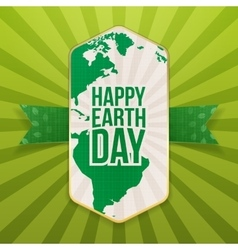 Happy earth day realistic paper banner template vector