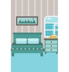 Background of bedroom vector