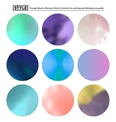 Set of colorful blurred round spots vector