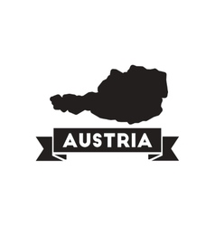 Flat icon in black and white austria card vector