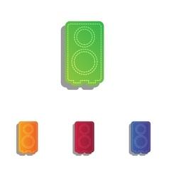 Speaker sign  colorfull applique vector