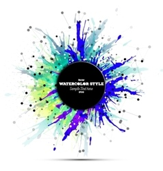 Abstract circle black banner with place for text vector image vector image