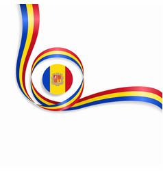 Andorran wavy flag background vector