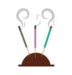 Aromatheraphy incense sticks vector