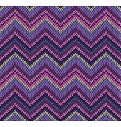 Beautiful Knitted Seamless Fabric Pattern vector image vector image
