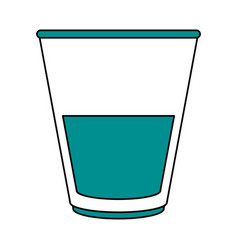 Beverage in glass cup icon image vector