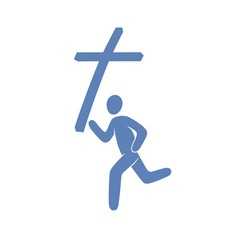 Christian movement symbol vector