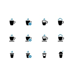 Coffee mug duotone icons on white background vector image