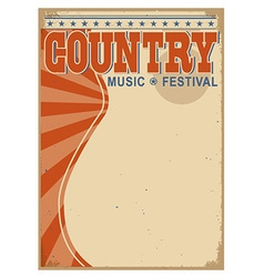 Country music background with text old poster vector