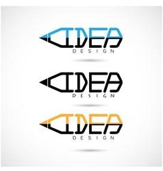 Creative pencil logo design vector image