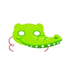 Crocodile animal head mask kids carnival disguise vector