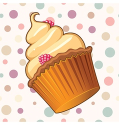 Delicious Muffin vector image