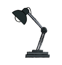 Desk lamp ornament light decoration vector
