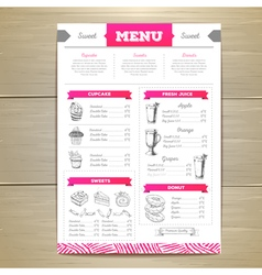 Dessert menu design vector