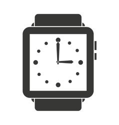 Elegant wristwatch isolated icon design vector