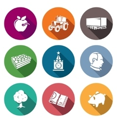 Export of Polish apples Icons Set vector image vector image