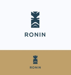 Face ronin man samurai logo vector