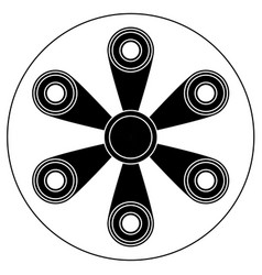 hand spinner with six blades vector image vector image