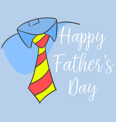 Happy father day style cartoon for card vector