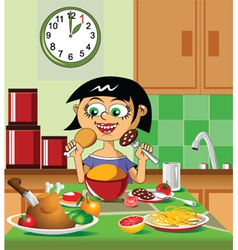 lovely lunch vector image vector image