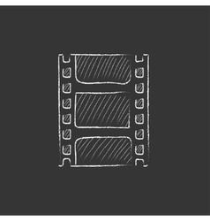 Negative Drawn in chalk icon vector image vector image
