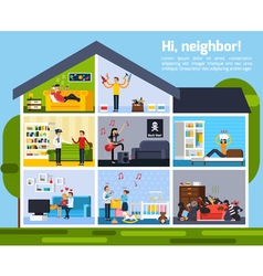Neighbor conflicts composition vector