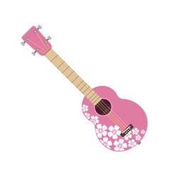 Pink ukulele isolated fine performance stringed vector