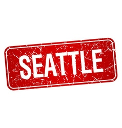 Seattle red stamp isolated on white background vector
