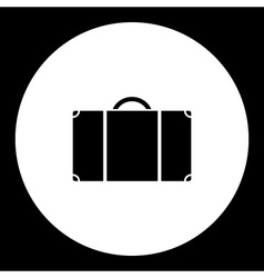 simple travelling case isolated black icon eps10 vector image