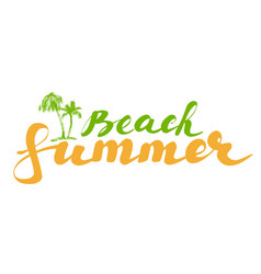 Summer beach logo symbol vector