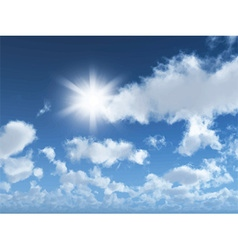sunny blue sky 1405 vector image vector image