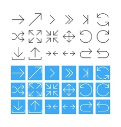 Thin Arrow Icon Set vector image vector image