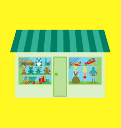 toy shop vector image