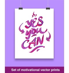Vecor set of motivation quote Mock up vector image vector image